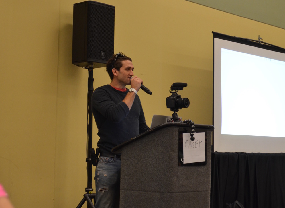 Casey Neistat during his presentation at IC. Photo by Sam Shatzkin.