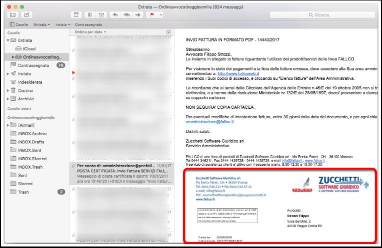 allegati posta certificata iphone