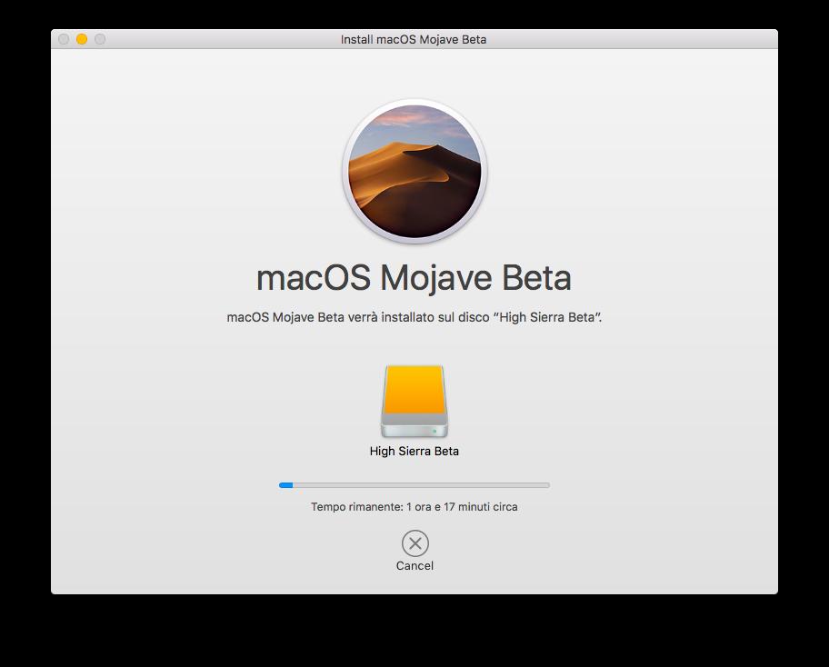 01 - installazione Mojave beta.png