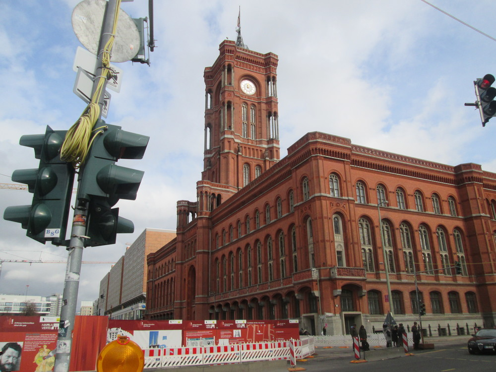 Das Rotes Rathaus in Berlin
