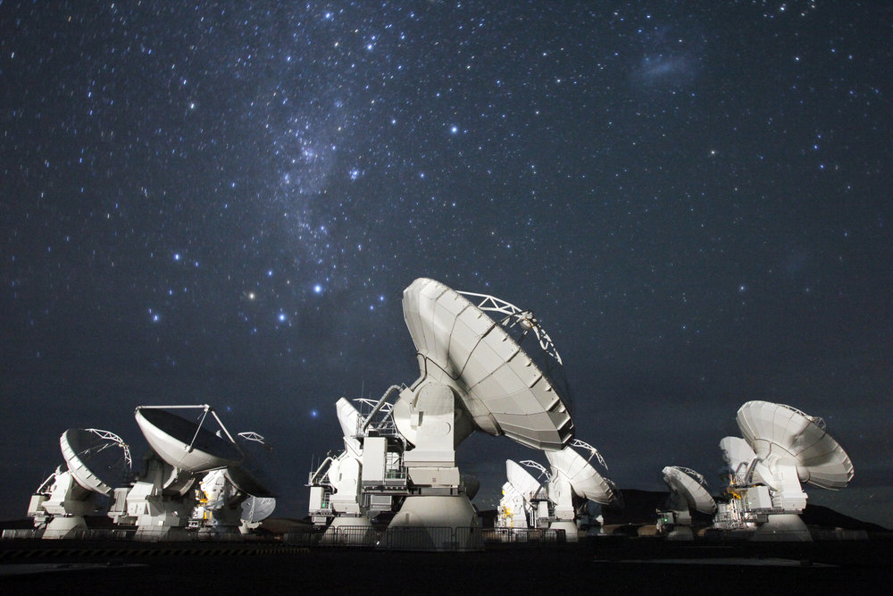 Photograph from  ALMA Observatory