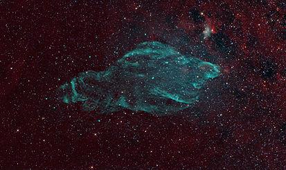 Manatee Nebula  (Image: NRAO/AUI/NSF, K. Golap, M. Goss; NASA's Wide Field Survey)  Right ascension: 19h12m Declination: +04°59'  Distance: 18,000 lightyears  Constellation: Aquila