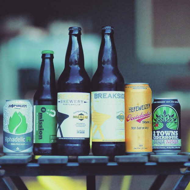 Need to beat the heat?  Come on by for an ice cold beer!  We've got a pretty great selection! Oh and we have wine and coffee to! 😉 #keepitlocal #portland #beer #wine #crestonkenilworth #pdx @hopvalleybrewing @2townscider @occidentalbrewing @breaksidebrews @omissionbeer