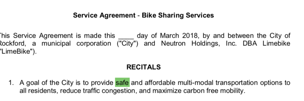 Excerpt of our LimeBike agreement.