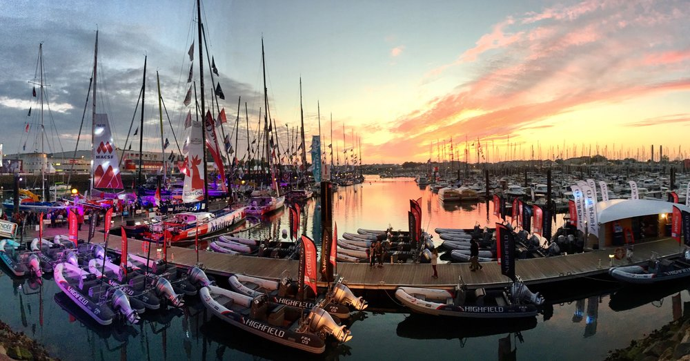 The docks at the Vendee Globe Village