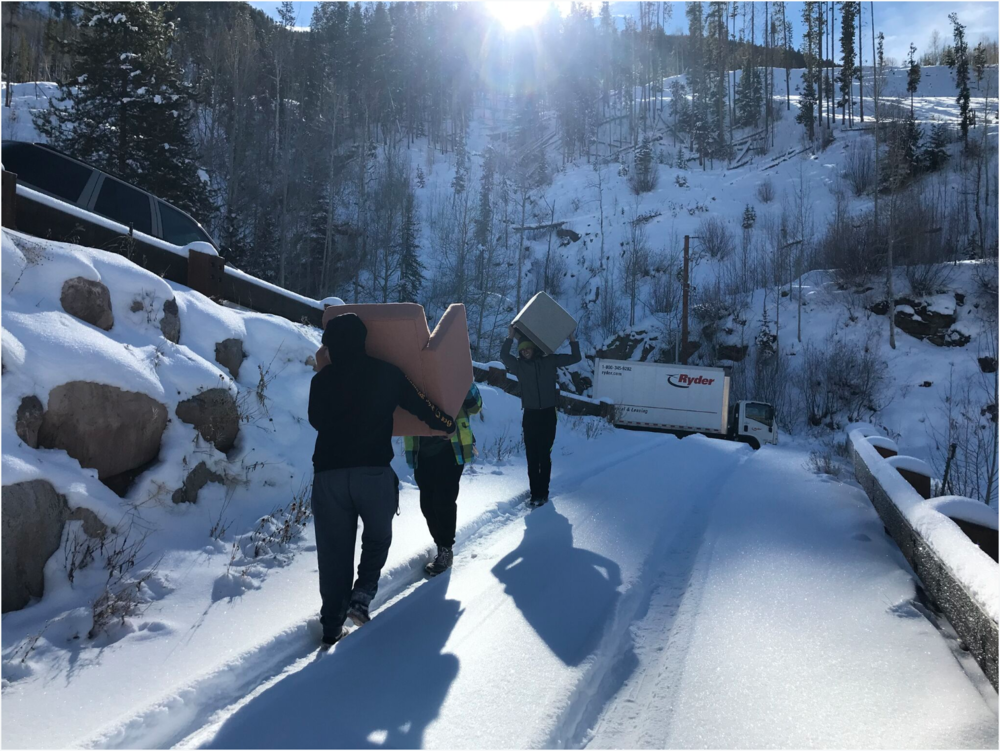 And finally, shout out to my install team who made the moving process smooth and fun despite snowy road conditions. The Ryder truck almost slipped off the edge of the mountain at one point—yikes!