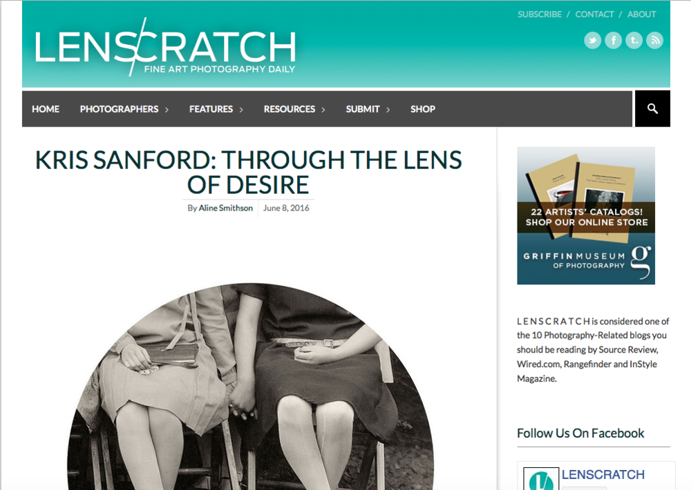Lenscratch, June 8, 2016  Full article:  Kris Sanford: Through the Lens of Desire