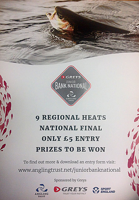 Enter the South West heat of the Greys Junior Bank Fly Fishing Competition - coming to Exe Valley Fishery on Sunday 25th October 2015