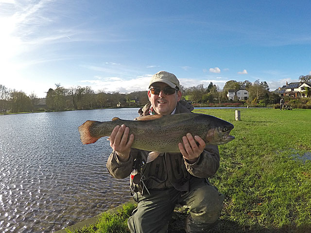 One of the best fish of the week - a 7lb Rainbow for Dick Burt, caught on a Cats Whisker.