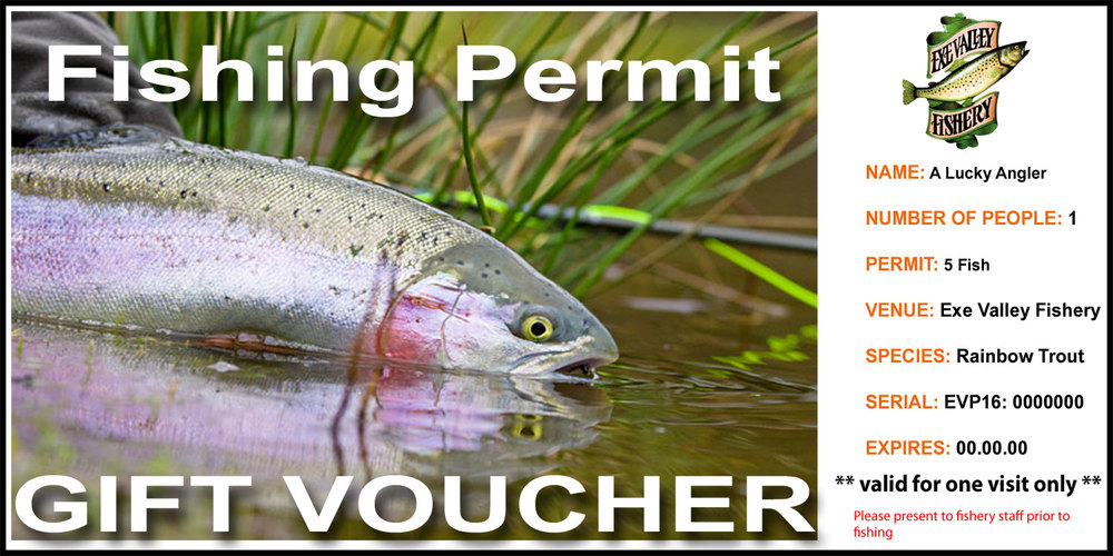 Exe Valley Fishery Gift Voucher
