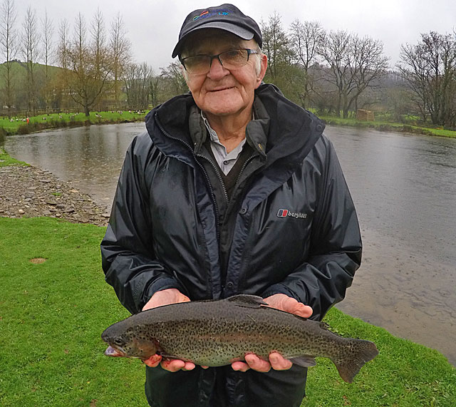 Well done to Cedric Bodington, age 83, he took no notice of the rain and was rewarded with a brace of Trout caught on a floating line near to the Anchor Lake feeder stream.