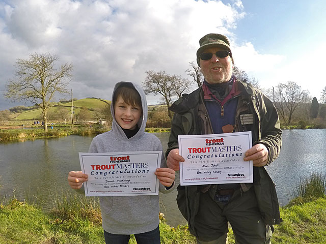 Exe Valley Fishery 2016 Troutmasters Fish Off Winners - James Mockridge (Left) and Alan Jukes (Right)