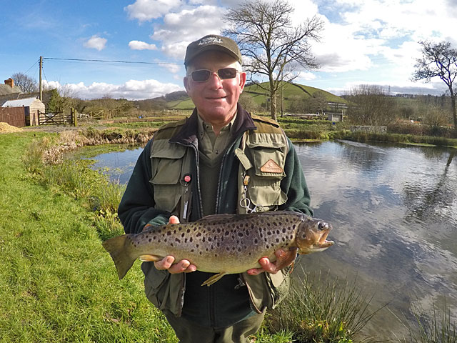 Ivor Topps lovely Brown Trout of 5lb 8oz