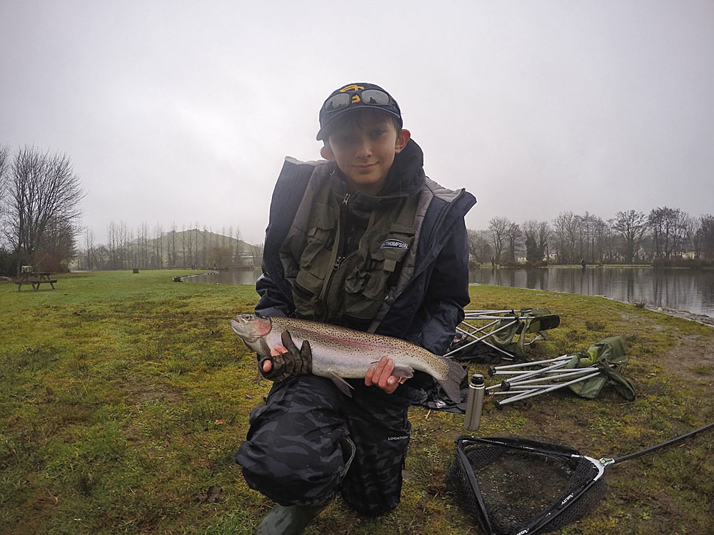 12 year old Freddie Millard loves fly fishing and caught this cracking Trout during our recent get together to celebrate Christmas at Exe Valley Fishery.