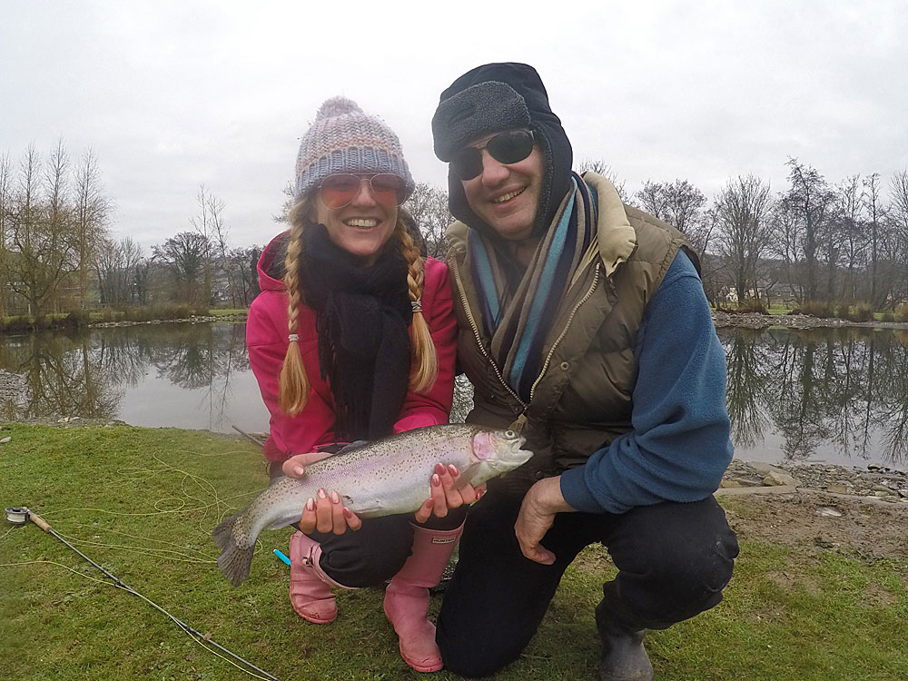 Fly Fishing novice Kirsty Curtis enjoyed her recent  fly fishing course  at Exe Valley and couldnt belive the power of the Rainbow Trout she caught.