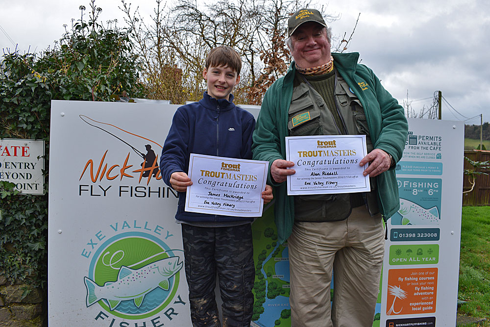 Fish Off Winners 2017 - Junior - James Mockridge & Senior - Alan Riddell