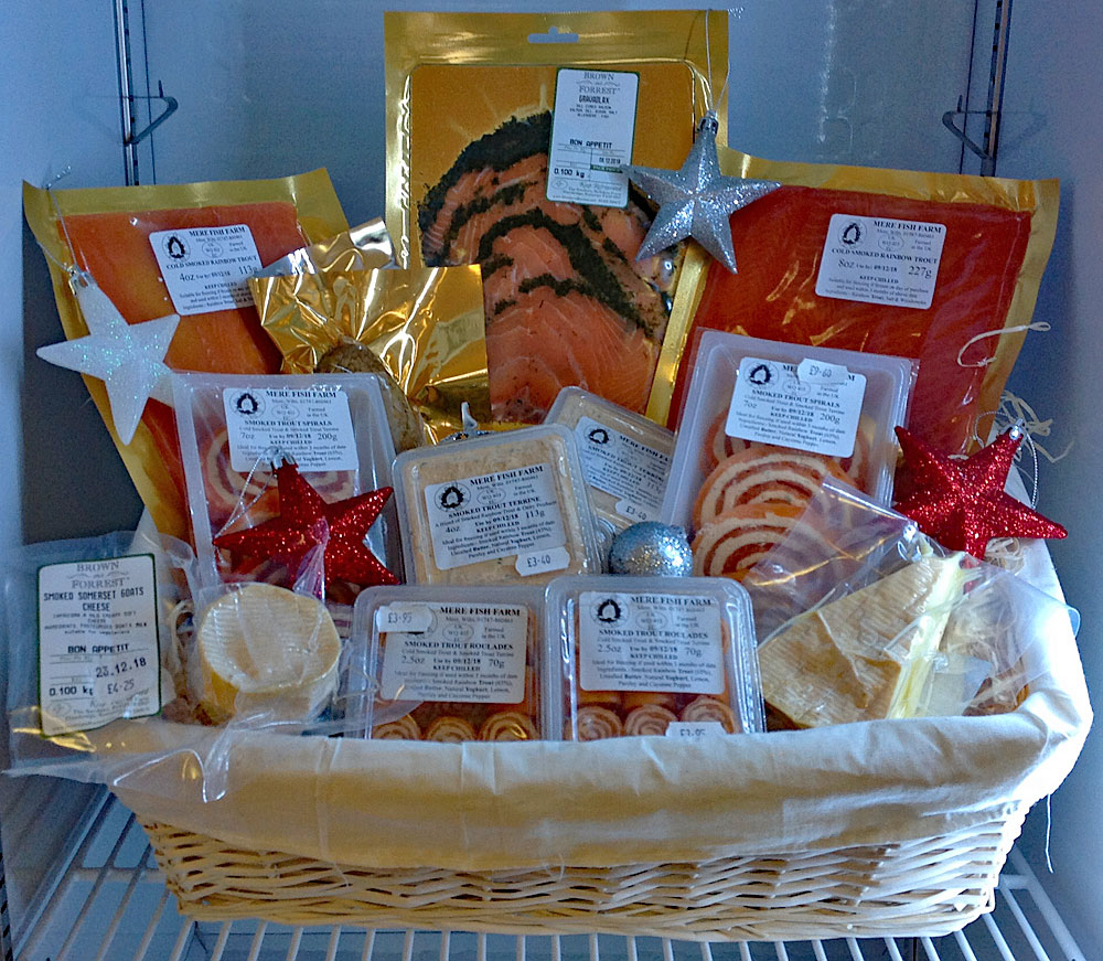 Win a selection of items from our range such as these which arrived into stock this week. The lucky winner of our prize draw will take home a selection of smoked fish, cheese, nuts & pickles. Please note the prize hamper does not include all the items shown in this image although it is available for £75.20 including a free basket! All smoked fish, duck & chicken we stock can be frozen for up to 3 months.