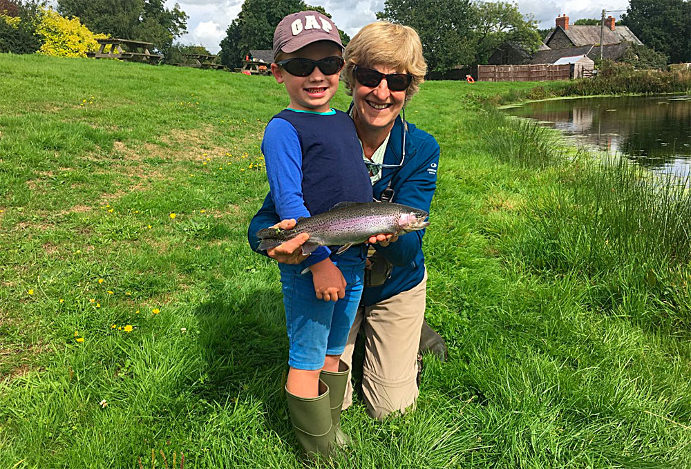 Bertie had a great time fishing Lobbs Lake with his Granny