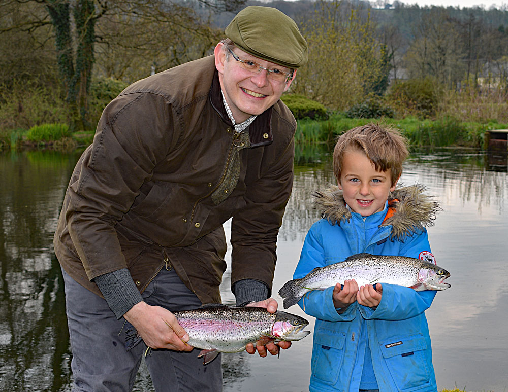 Join in the Junior Fishing Day for a chance to catch a beautiful Lobbs Lake Rainbow Trout