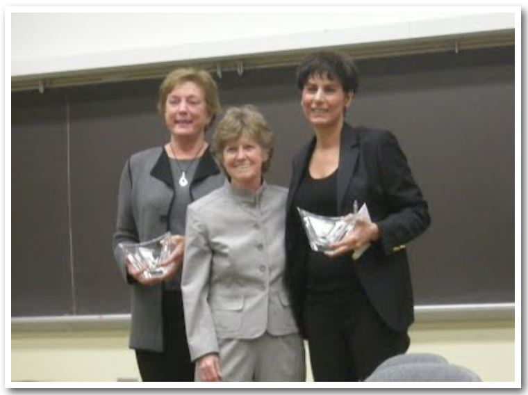 From left to right; Dr. Lee Limbird, Dr. Elaine Sanders-Bush, Dr. Khoshbouei.