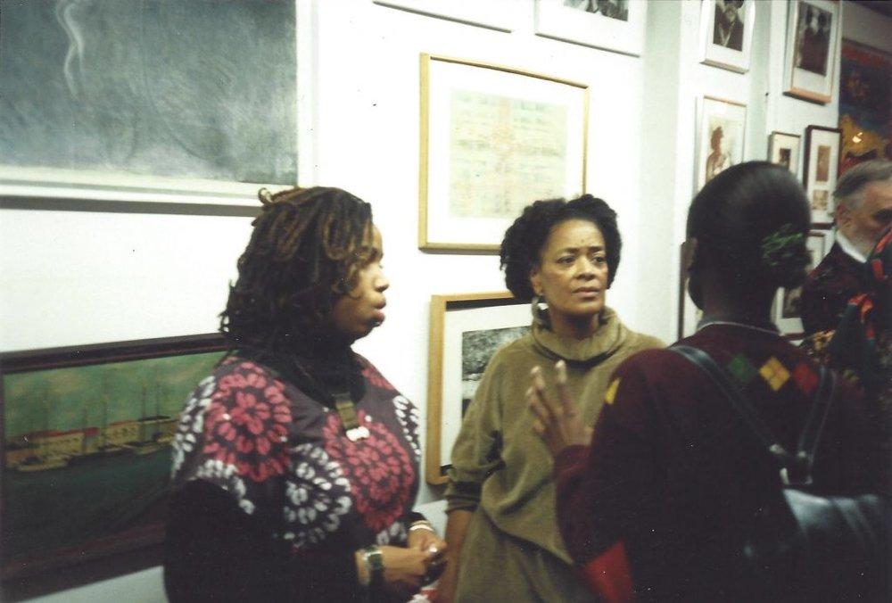 Aishah Shahidah Simmons, Toni Cade Bambara, & Kim Hinckson, 1994 courtesy: ©