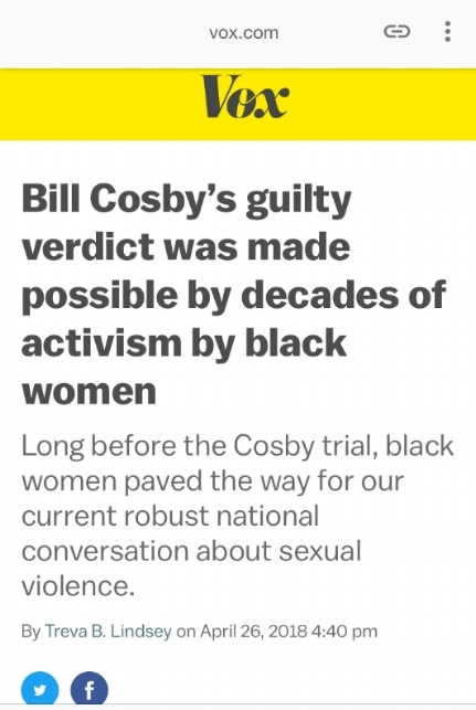 Vox article on Black women's anti-rape activism