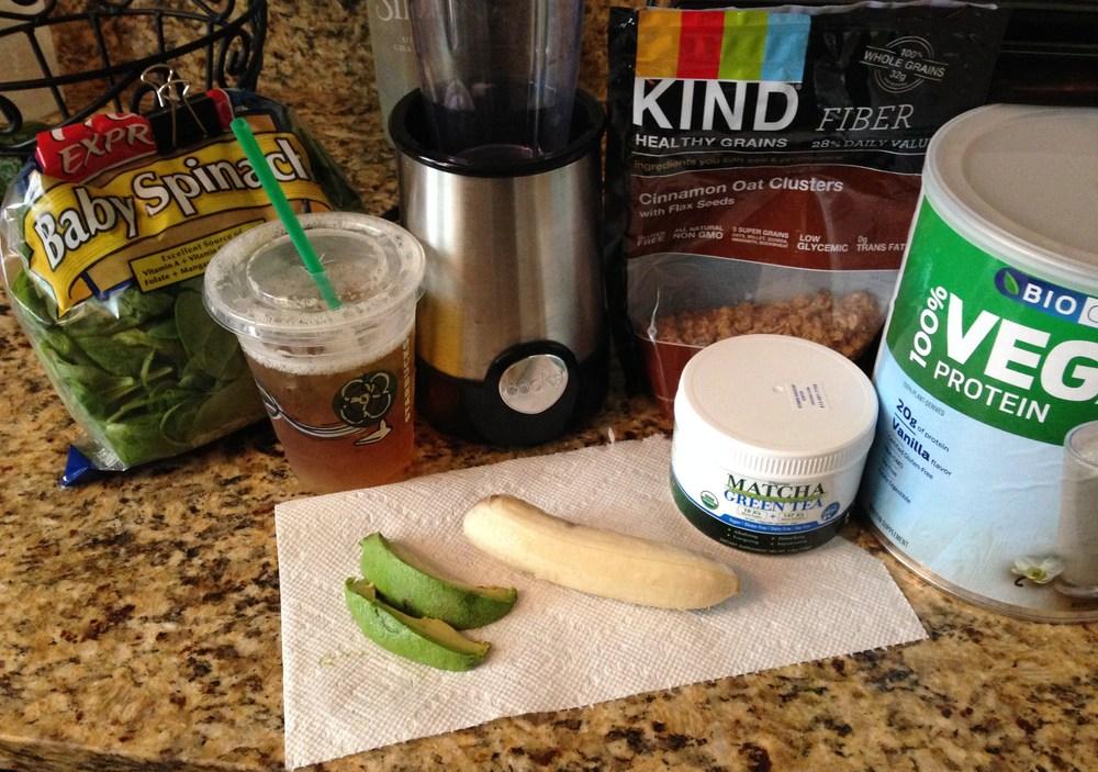 Green tea smoothis ingredients