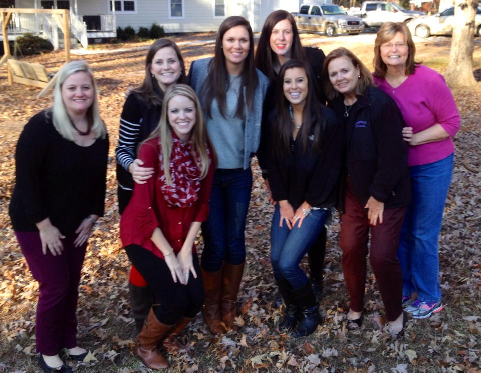 Some of the many blessings I received by marrying into this wonderful family! All the ladies on Thanksgiving last year in Georgia! Can't wait to see them and the rest of the family next week!