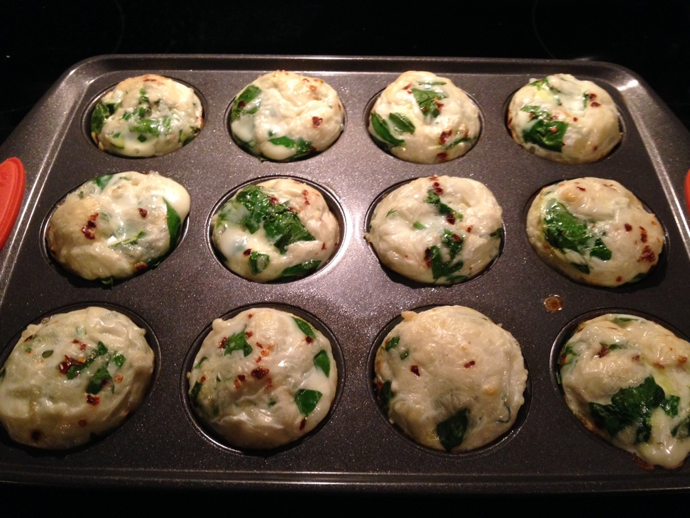 Spinach Egg White Muffins