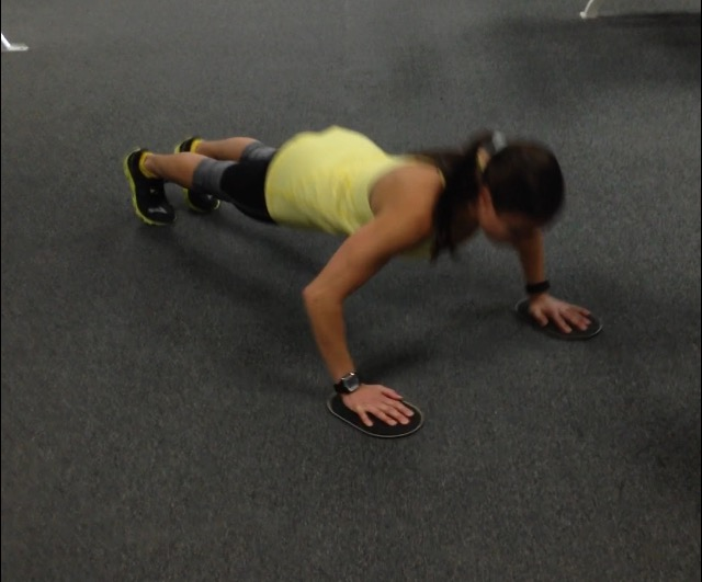 Slider Push-ups (exercise #3)