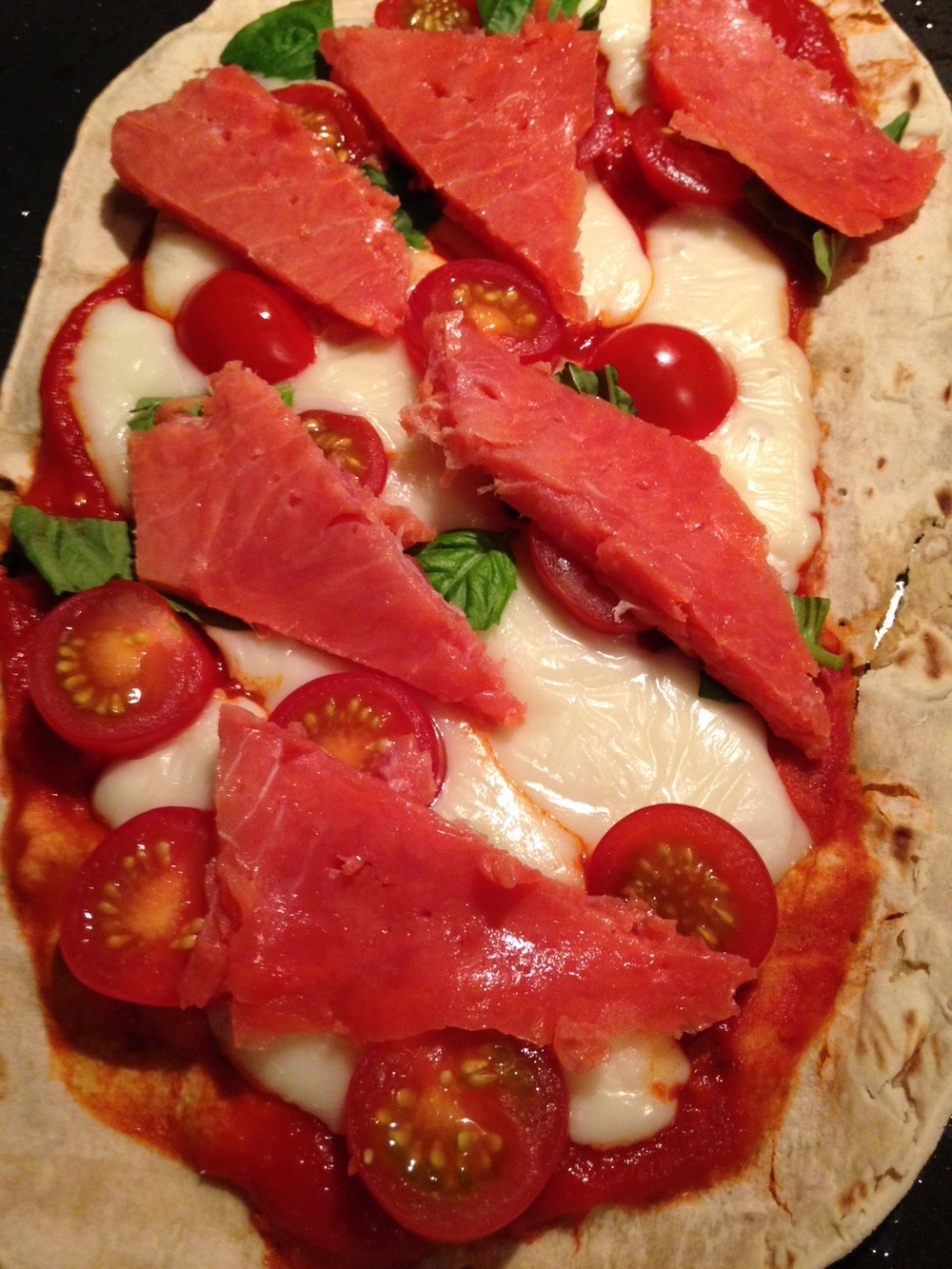 My personal Gluten Free Caprese Pizza!