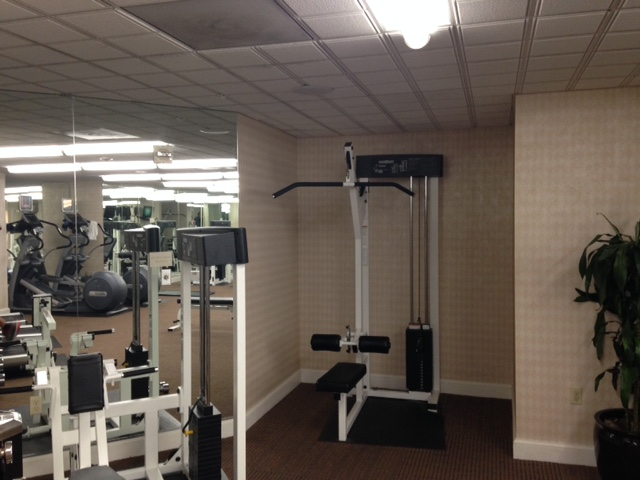 Most hotel gyms will have very few pieces of equipment, but you don't need a lot to have a great workout!