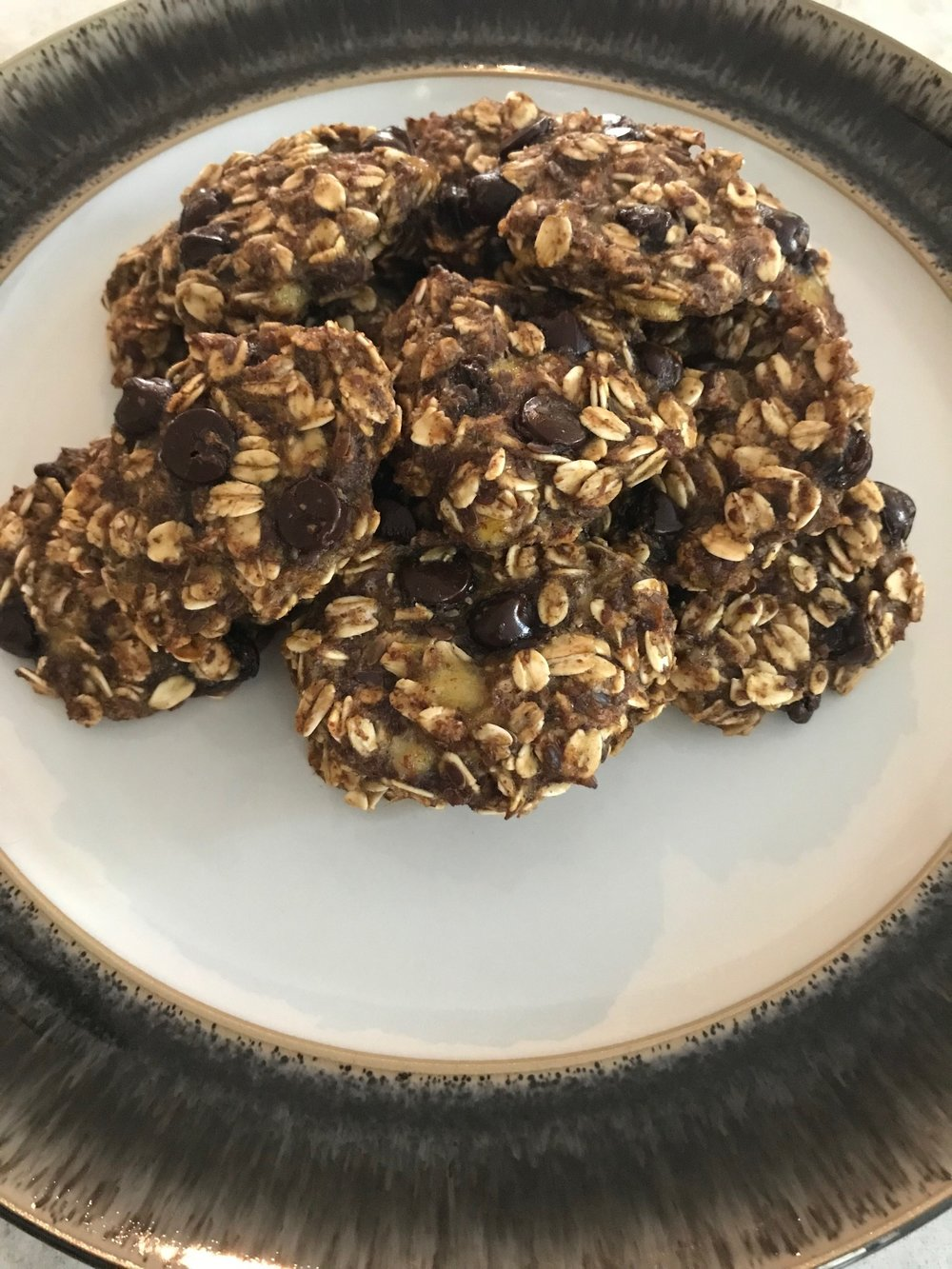 Oatmeal Banana Chocolate Chip Cookies