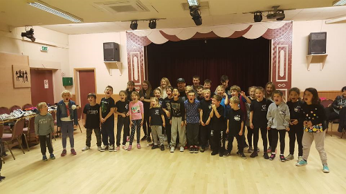 Curtis has a packed out breakin' workshop for charity
