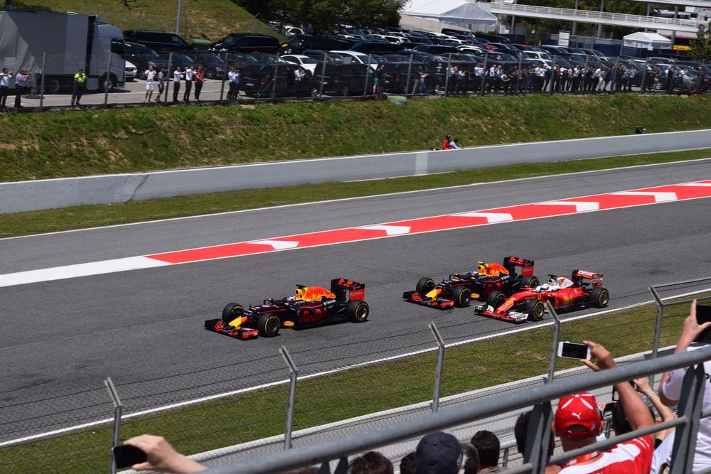 The Red Bulls battle with Vettel