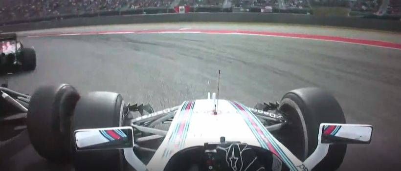 Felipe Massa comes off second-best following a touch from Alonso