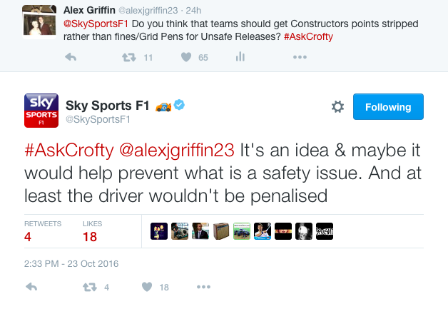 Sky Sports commentator David Croft discussing unsafe releases