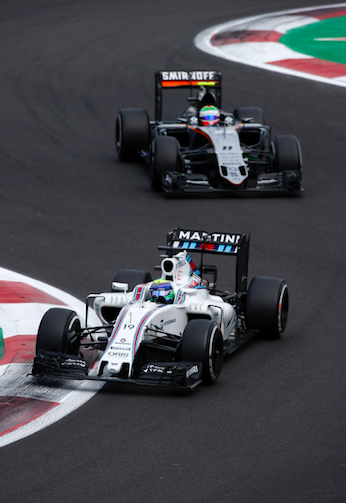 Perez struggled behind Massa all race and was unable to pull off a successful overtake all race. Source: Motorsport.com