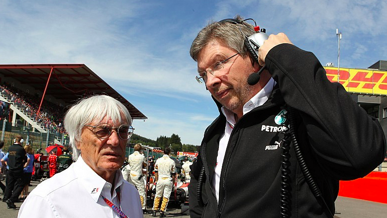 Rumours have been circulating that Ross Brawn could either take over Bernie Ecclestone or partner his replacement. Source: Motorsport.com