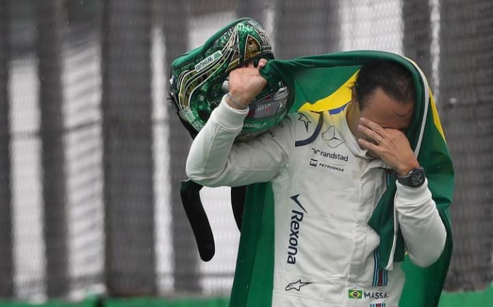 The emotion is too much for Massa following his retirement in Brazil. Source: The Guardian.