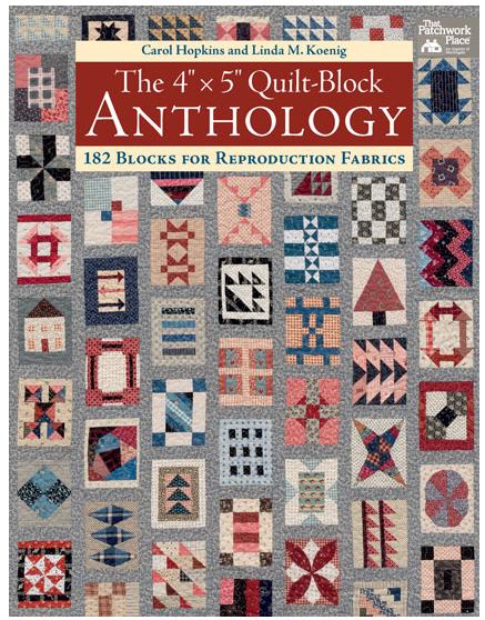 Portada del libro Quilt Block Anthology de Carol Hopkins, Linda M. Koenig  foto cortesía Martingale