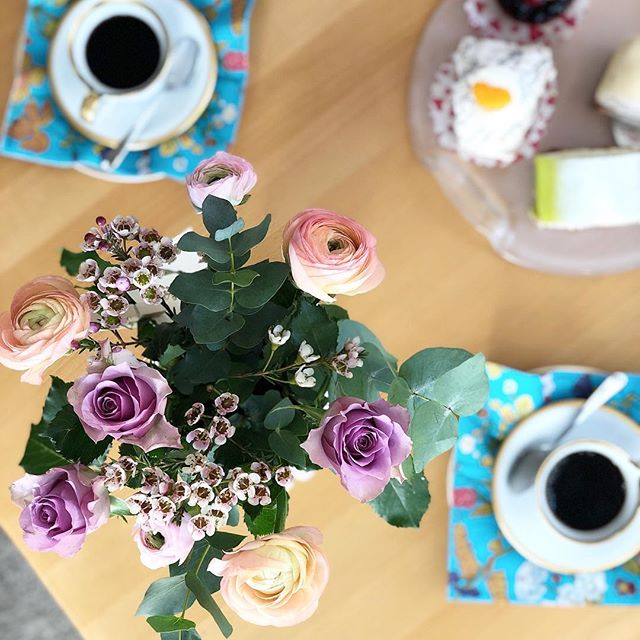 At last Instagram will let me post! Thanks for all the birthday love.. it was spent with the holy trinity of #family #flowers and #fika, and tiny little people just discovering the world.