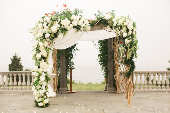 Gorgeous Chuppah inspiration via The Knot