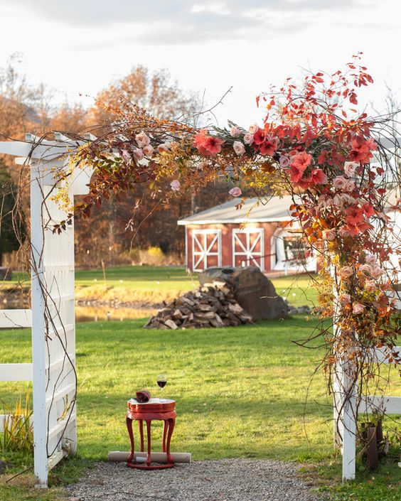 Autumn Chuppah via Martha Stewart Weddings
