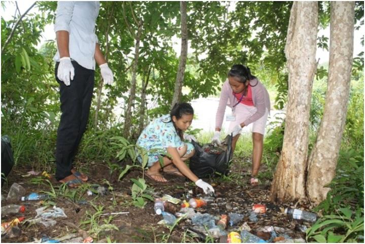 Trash Clean-Up at Chi Phat Waterfall