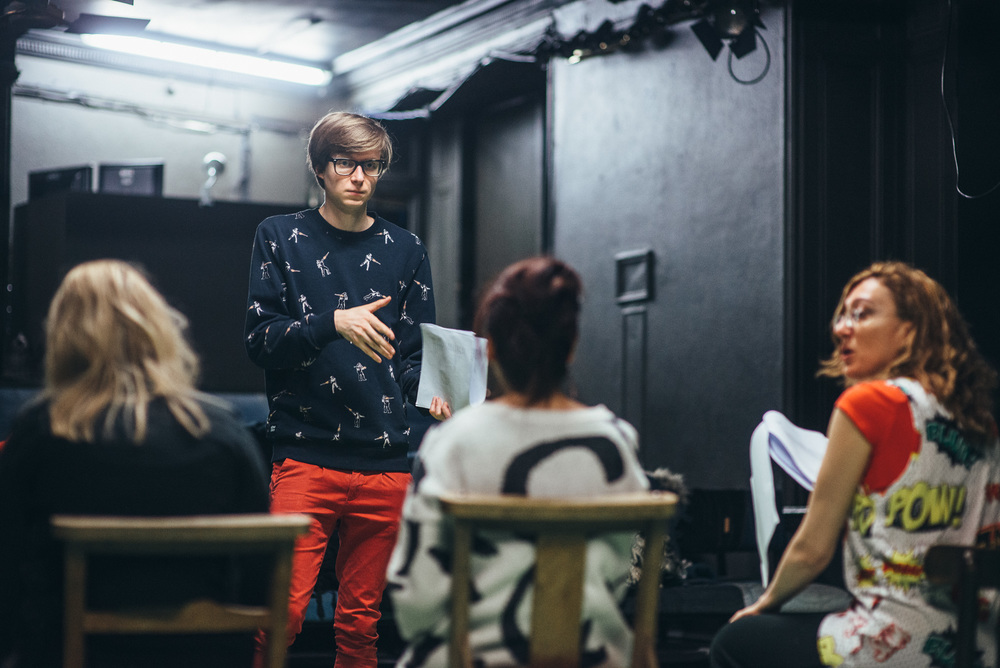 Rehearsal photo, 5boys