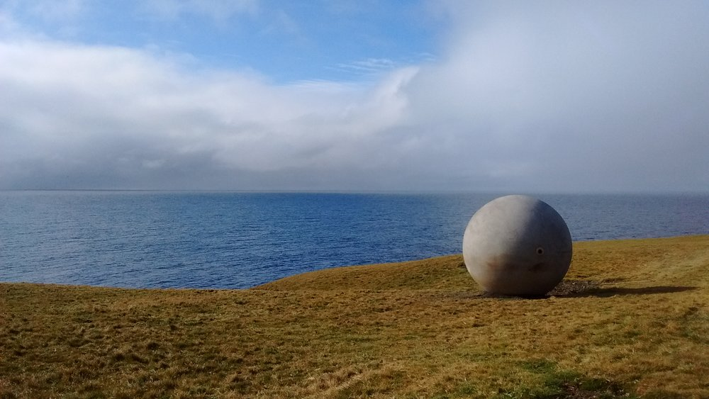 """""""Orbis et Globus,"""" Arctic Circle Monument, Grímsey Ísland, Iceland, 2017"""