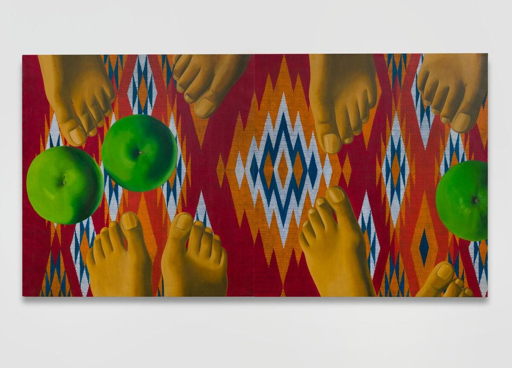 Encounter  oil on canvas, 50 x 95 3/4 inches 1971