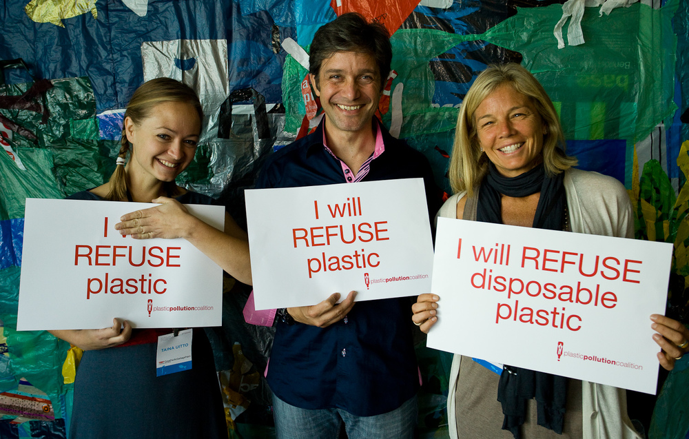 Together, we can STOP plastic pollution.   THE COALITION