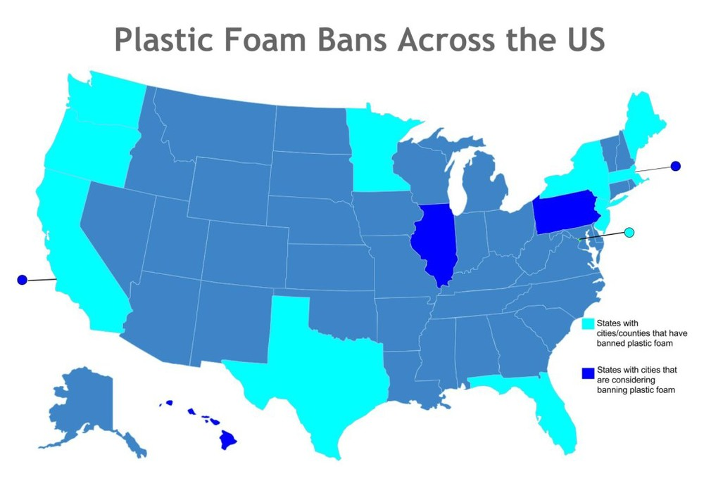 Foam Ban map, as of June 2015, courtesy of Groundswell.org. Used with permission.